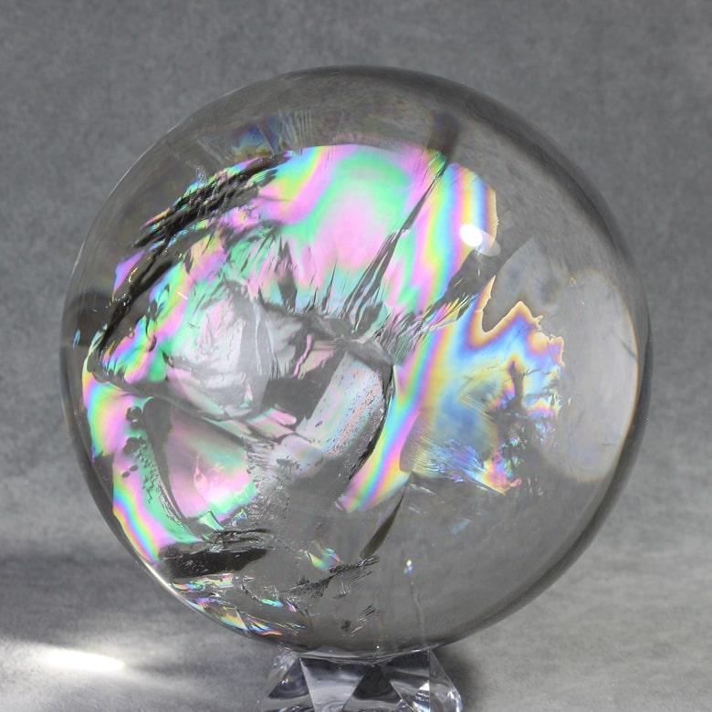 レインボー水晶玉