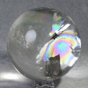 [スーパートップクオリティ]レインボー水晶丸玉/アイリスクォーツスフィア(大玉134mm)