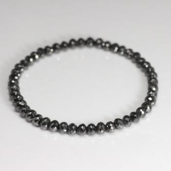 [トップクォリティ]ブラックダイヤモンドブレスレット(約5mm)