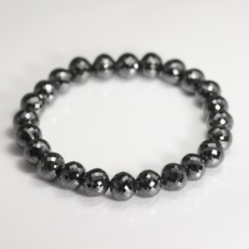[最高品質]ブラックダイヤモンドブレスレット(約9mm)