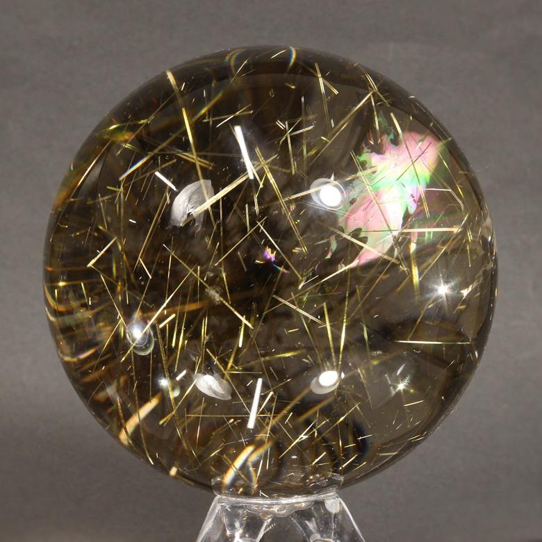 高品質ゴールドルチルクォーツ スフィア[80.6mm]