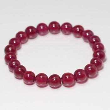 [トップクォリティ]宝石質ルビーブレスレット(約8.5mm玉)