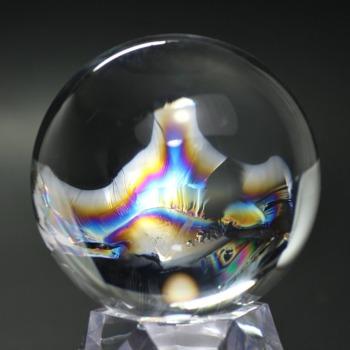 [トップクォリティ]レインボー水晶玉/アイリスクォーツスフィア(丸玉直径66.0mm)