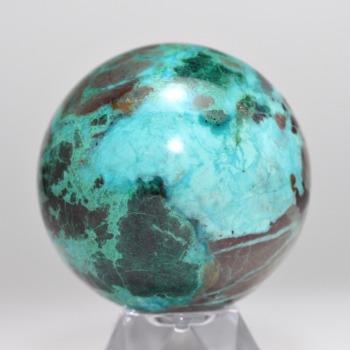 [アメリカ産]シャッタカイトシリカミックスストーン丸玉/スフィア(直径約49mm)
