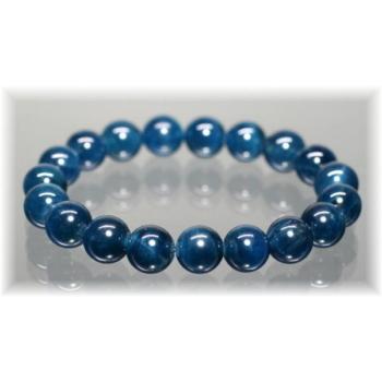 3A++ブルーアパタイトキャッツアイ約10mm玉ブレスレット (BLUEAPATITE-10005IS)
