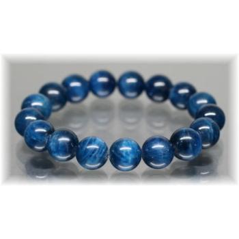 3A++ブルーアパタイトキャッツアイ 約12mm玉ブレスレット(BLUEAPATITE-IS1204)