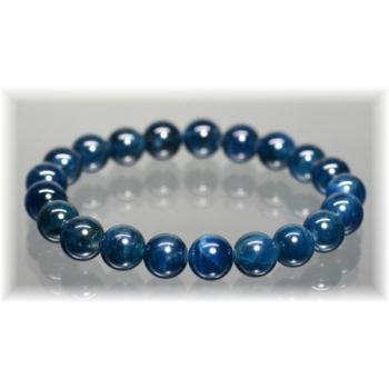 3A++ブルーアパタイトキャッツアイ約9.5mm玉ブレスレット (BLUEAPATITE-95005)
