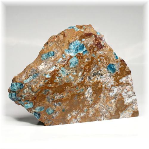 アゲートインアパタイト結晶付き原石フリーカット/鑑別書付属(BLUEAPATITE-FC580IS)