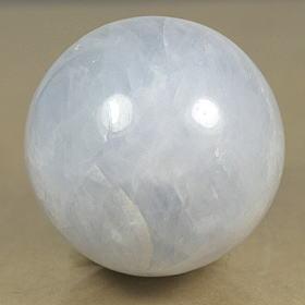 マダガスカル産ブルーカルサイト丸玉(BLUECALCIT-SPH09)