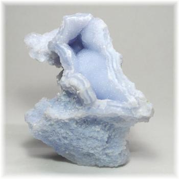 [南アフリカ産]ブルーカルセドニー  原石(BlueChalcedony-127IS)