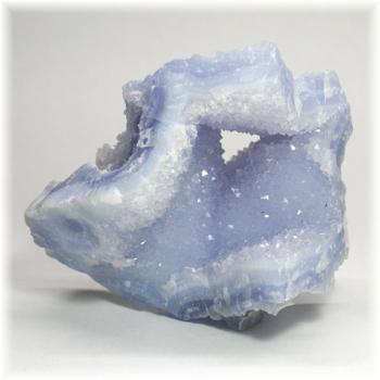 [南アフリカ産]ブルーカルセドニー  原石(BlueChalcedony-236IS)
