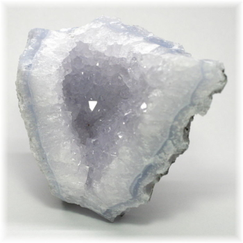 [南アフリカ産]ブルーカルセドニー  原石(BlueChalcedony-411IS)