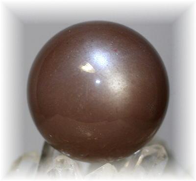 インド産ブラウンムーンストーン丸玉(BROWNMOONSTONE-01)