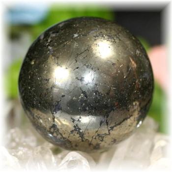 ペルー産チャルコパイライト丸玉(CHALCOPYRITE-SPH101)