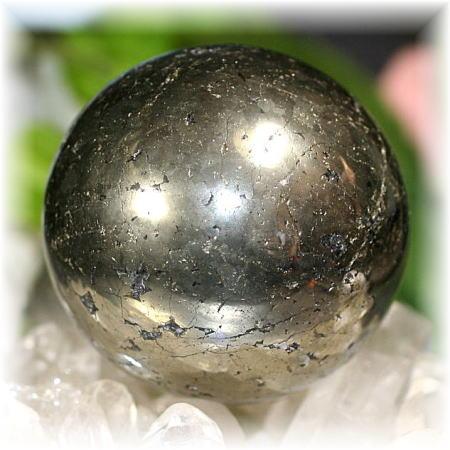 ペルー産チャルコパイライト丸玉(CHALCOPYRITE-SPH105)