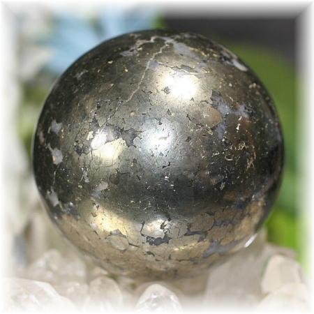 ペルー産チャルコパイライト丸玉(CHALCOPYRITE-SPH107)