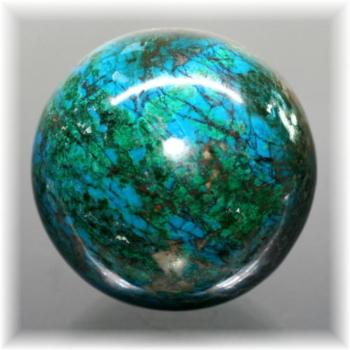 ペルー産クリソコーラ丸玉(CHRYSOCOLLA-SPH597IS)