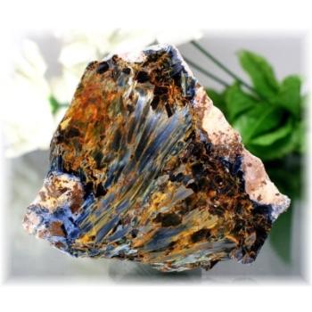 ナミビア産ピーターサイト磨きプレート(置物(CROCIDOLITEAGETE-PP178IS)