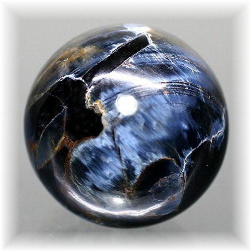 ナミビア産ピーターサイト丸玉/スフィア(CROCIDOLITEAGETE-125IS)