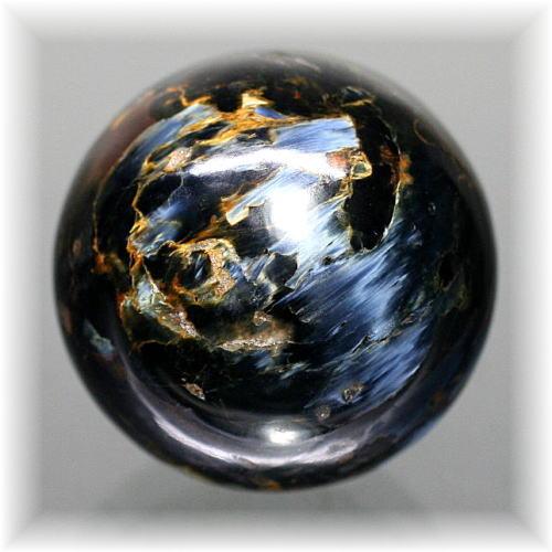 ナミビア産ピーターサイト丸玉/スフィア(CROCIDOLITEAGETE-126IS)