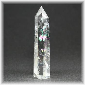 ブラジル産虹入り水晶ポリッシュポイント(CLYSTAL-RBPP301IS)
