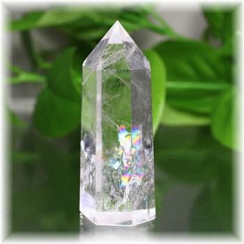 ブラジル産虹入り水晶ポリッシュポイント(CLYSTAL-RBPP303IS)