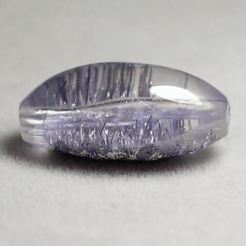 最高品質デュモルチェライトインクォーツ 天珠型 粒販売(DumortieriteInQuartz-tenjyuTUBU-11IS)