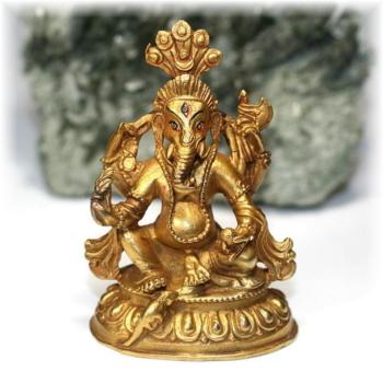 ネパール産ガネーシャ神像/真鍮製(GANEZA-BRASS01)