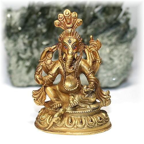 ネパール産ガネーシャ神像/真鍮製(GANEZA-BRASS02)