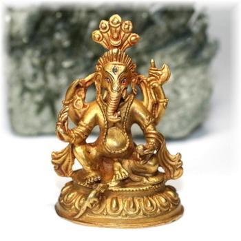 ネパール産ガネーシャ神像/真鍮製(GANEZA-BRASS03)