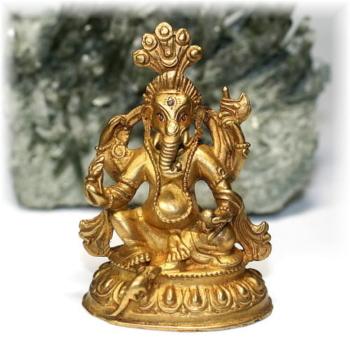 ネパール産ガネーシャ神像/真鍮製(GANEZA-BRASS04)