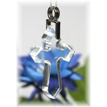 ガネッシュヒマール産ヒマラヤ水晶 十字架ペンダント(GANESH-CROSSPT174)