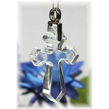 ガネッシュヒマール産ヒマラヤ水晶 十字架ペンダント(GANESH-CROSSPT175)