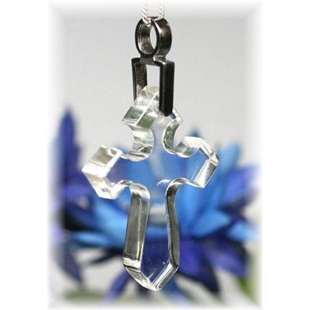 ガネッシュヒマール産ヒマラヤ水晶 十字架ペンダント