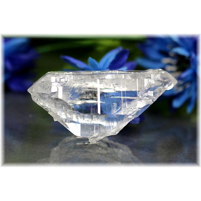 ガネッシュヒマール産ヒマラヤ水晶ナチュラルポイント(Wポイント・セルフフィールド(GANESHCLYSTAL301IS)