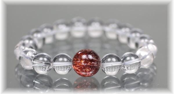 ヒマラヤ水晶+特選1粒ブレスレットの写真