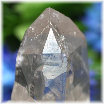 [ガネッシュヒマール産]ヒマラヤ水晶 ・ナチュラルスモーキー(レコードキーパー有)(GHN-RK1517)