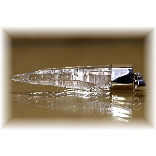 [ガネッシュヒマール産]ヒマラヤ水晶スーパーナチュラルペンダントトップ(925シルバー)