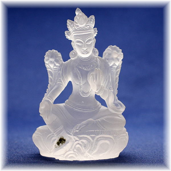 ガネッシュヒマール産ヒマラヤ水晶 ターラ菩薩像(GANEZA-TARA173)