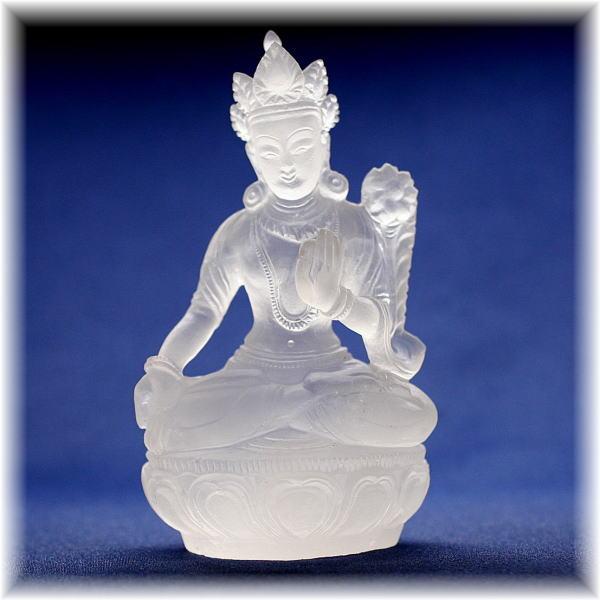 ガネッシュヒマール産ヒマラヤ水晶 ターラ菩薩像(GANEZA-TARA210)