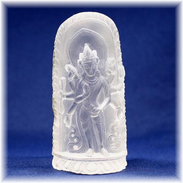ガネッシュヒマール産ヒマラヤ水晶金剛薩た像(GANEZA-Vajrasattva302)