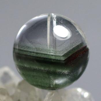 [最高品質]ブラジル産 グリーンガーデンファントムクォーツ 粒販売[直径17㎜](GRPH-T-04IS)