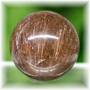 ブラジル産ガーデンルチルクォーツ丸玉(GARDENRUTILE-SPHERE1601IS)
