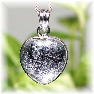 ギベオン隕石ハート型 SVペンダントトップ(GEBEON-HEART213IS)