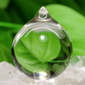 [ガネッシュヒマール産]ヒマラヤ水晶如意宝珠(直径約32.0mm)
