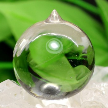 [ガネッシュヒマール産]ヒマラヤ水晶如意宝珠(直径約33.2mm)