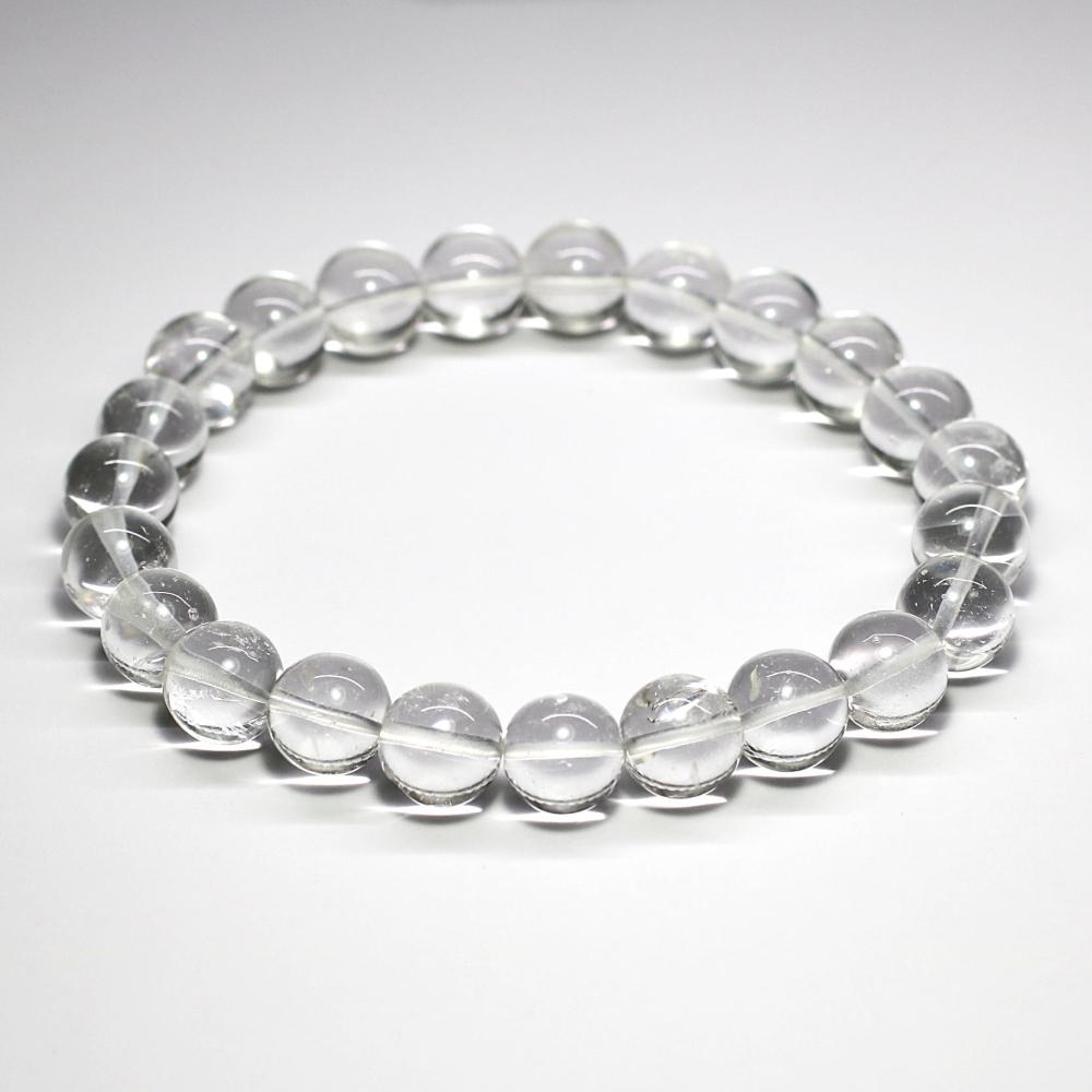 [ガネッシュヒマール産・高品質]ヒマラヤ水晶ブレスレット(約9.5mm/手磨き)