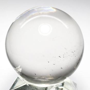 [ガネッシュヒマール産]ヒマラヤ水晶丸玉/スフィア(クローライトインクルージョン)