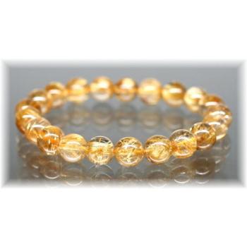 高品質ゴールドルチルクォーツ 約9ミリ玉ブレスレット(GOLDRUTILE-HQIS9052IS)