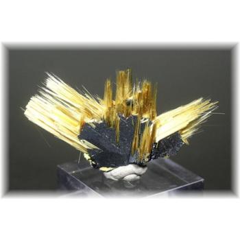 ブラジル産ゴールドルチル針状結晶原石(GOLDRUTILE-NEEDLE05)